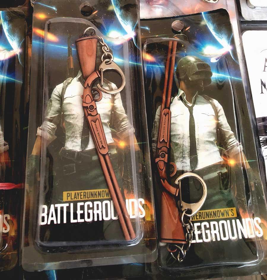 PUBG Guns Keychain