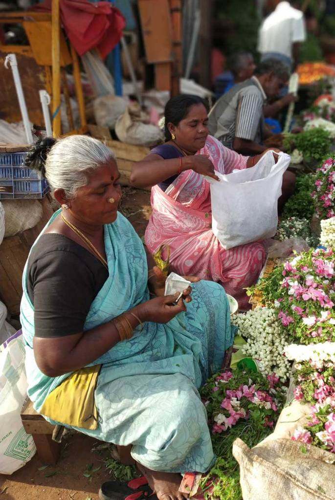 Woman selling flower