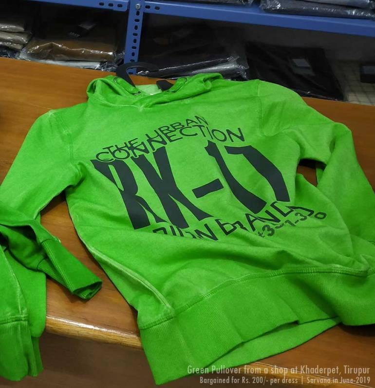 Green Pullover - Tirupur Dress