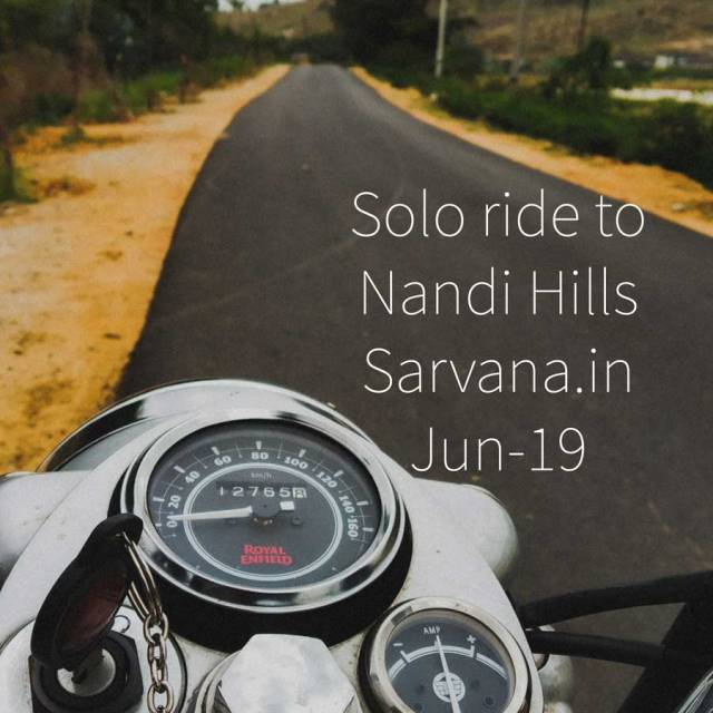 Solo Ride to Nandi Hills