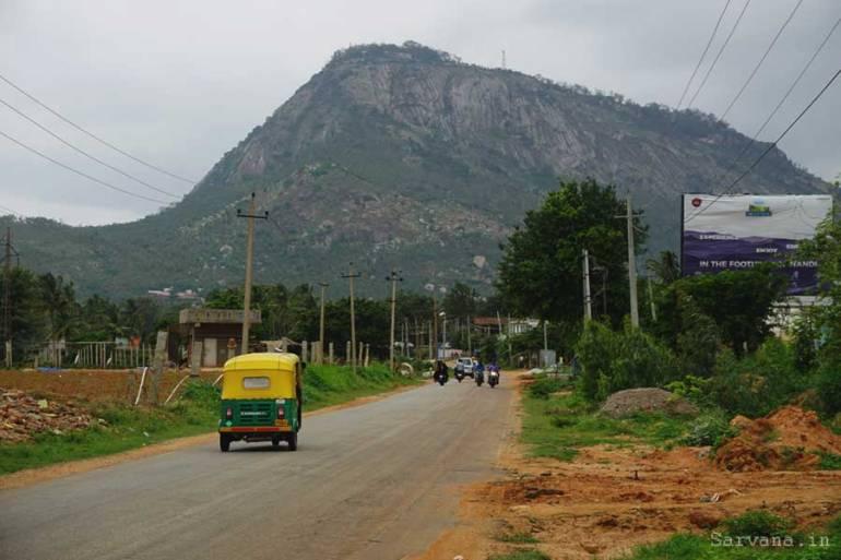View of Nandi Hill, Chikkaballapur